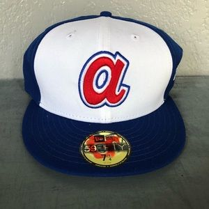 NWT Atlanta Braves Fitted Hat